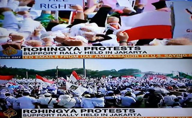Tak di Siarkan Stasion TV Lokal, Aksi Bela Rohingya di Jakarta Live di Media Internasional