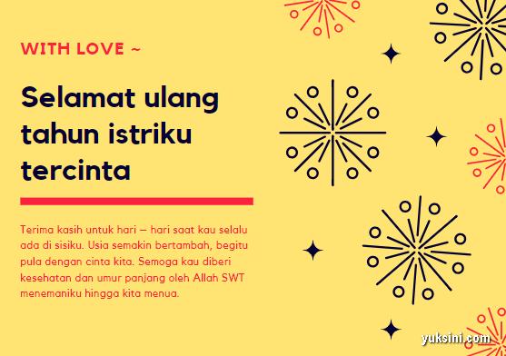 ucapan ulang tahun islami untuk istri