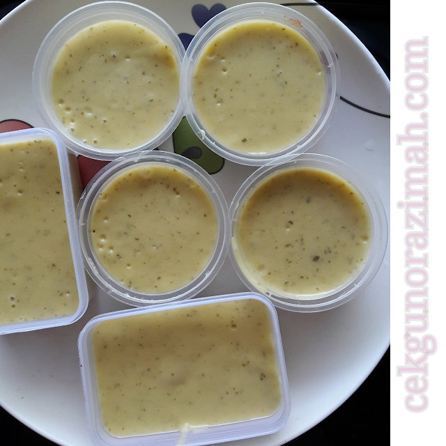 dhia zahra, stok makanan dhia zahra, makanan bayi 9 bulan