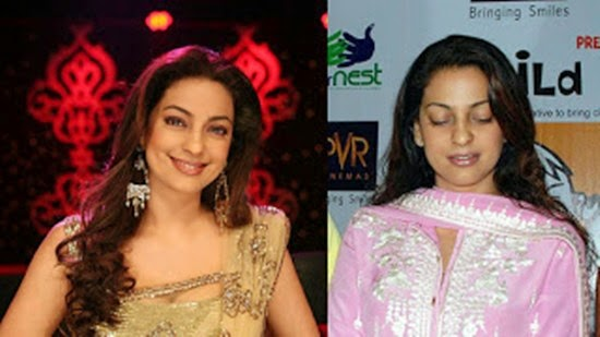 Juhi Chawla without Makeup