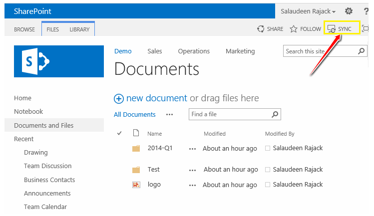 sharepoint 2013 foundation sync