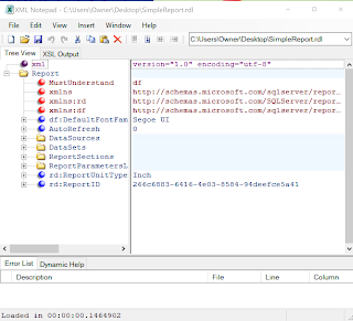 Reading an RDL file using XML Notepad is very easy | news