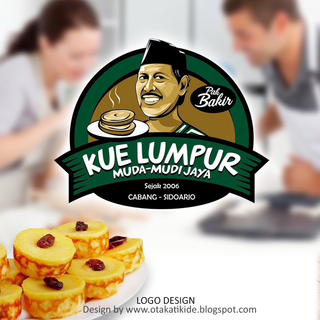 Desain Kemasan Pouch: Logo Merek Produk Kue Lumpur Muda-mudi Jayajasa Desain