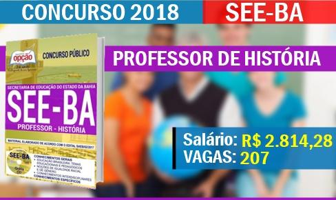 Concurso SEE-BA 2018 Professor de Educação História