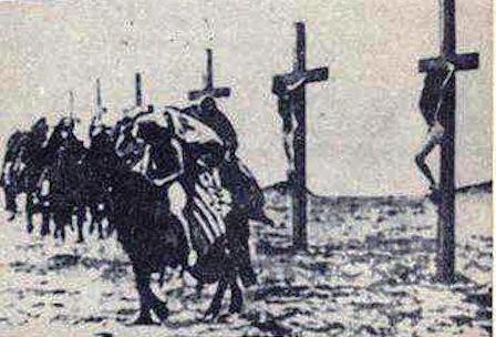 Η φωτογραφία με τις σταυρωμένες γυναίκες είναι η δραματοποίηση για της ανάγκες της ταινίας του 1919. Η πραγματικότητα ήταν χειρότερη.  Όπως ανέφερε η κοπέλα, ο τρόπος με τον οποίο συνήθιζαν οι Οθωμανοί να σκοτώνουν δεν ήταν η σταύρωση, αλλά το παλούκωμα, η τοποθέτηση μυτερών ξύλινων πασσάλων μέσα στον κόλπο των γυναικών (ανασκολοπισμός), αφού πρώτα τις βίαζαν.