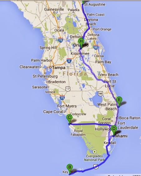 cacharrillos de viaje: usa florida y costa oeste, la ruta