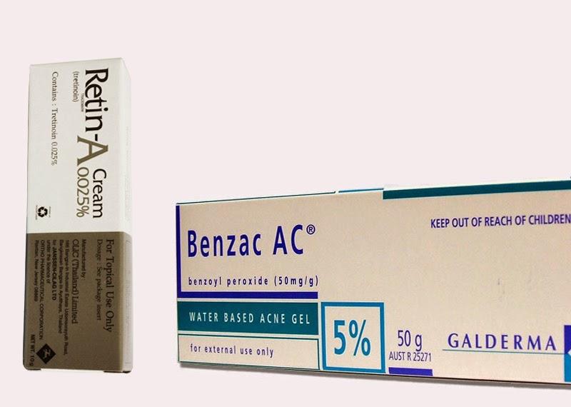 Benzac 5% ใช้ร่วมกับ Retin-A 0.025%