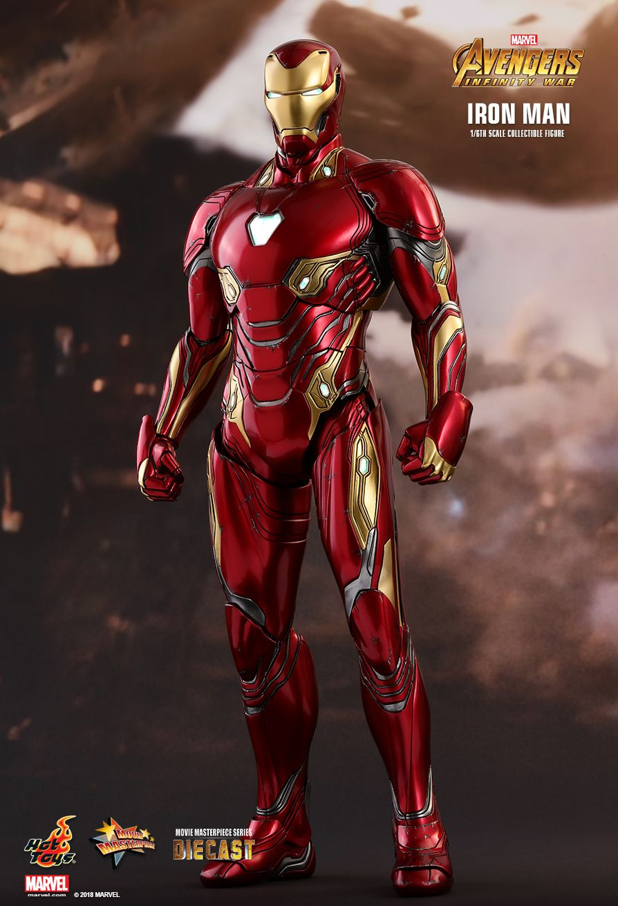 Hot Toys Avengers infinity War Iron Man MK50 1/6 Scale ... Iron Man Avengers Full Body