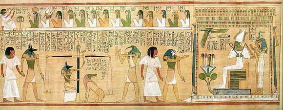 Osiris yargılama yaparken