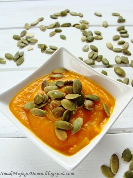 Zupa - krem z dyni z cebulą i czosnkiem