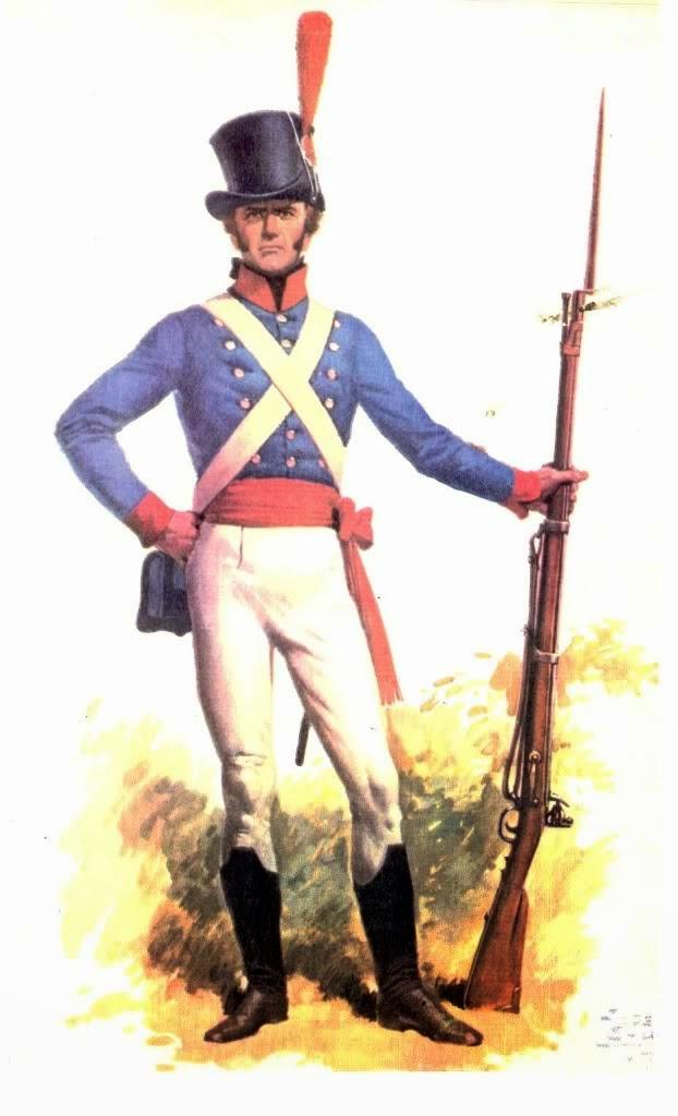 Fusilero del Regimiento de Patricios, por José Luis Salinas
