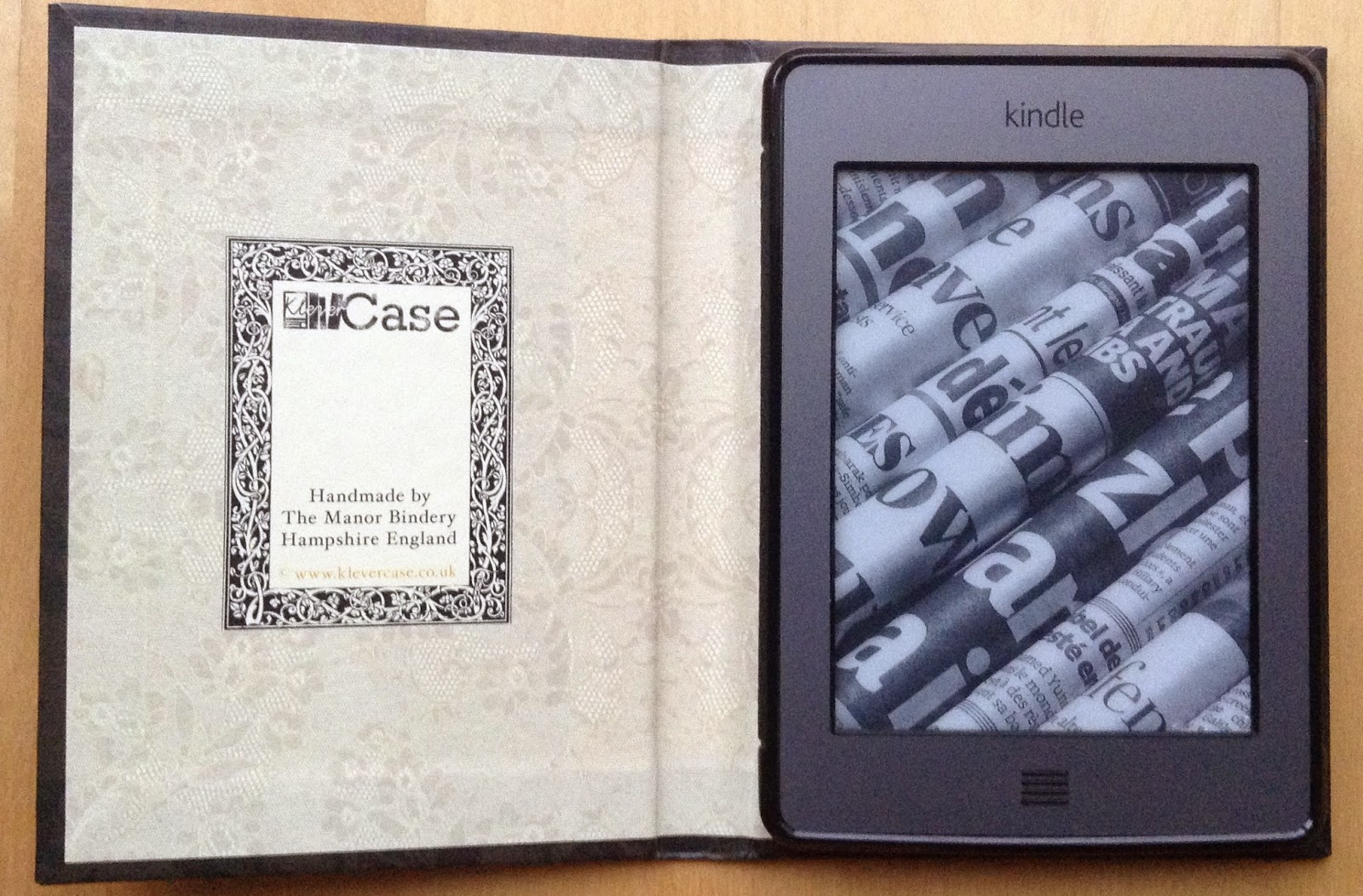Inside of Pride & Prejudice kindle case