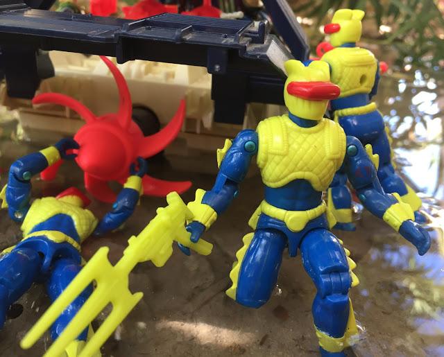 1992 Eel, 1994 Shipwreck, Eco Warriors, Deep Six, T'JBang, Ninja Force, 1993 Shark 9000