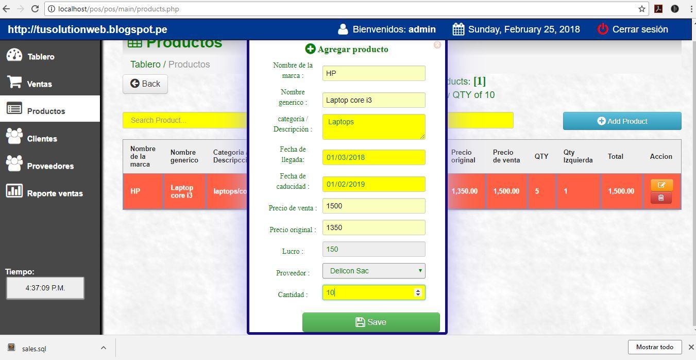 sistema punto de venta php mysql ajax codigo gratis - tusolutionweb