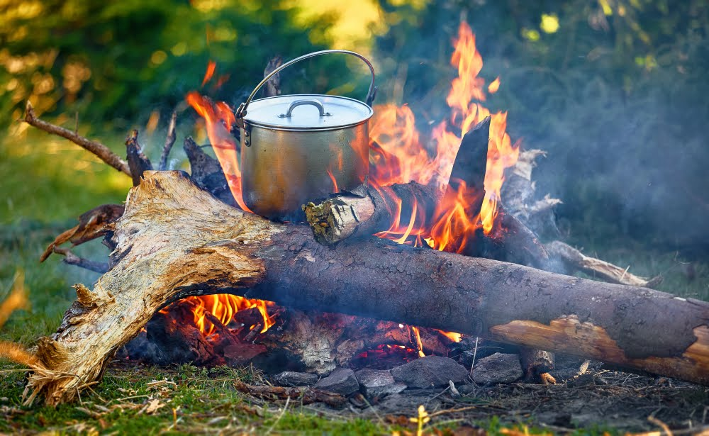 The joys of cooking under a camp fire