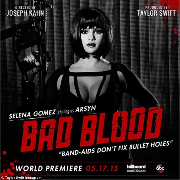 Selena Gomez bares cleavage for 'Bad Blood' poster