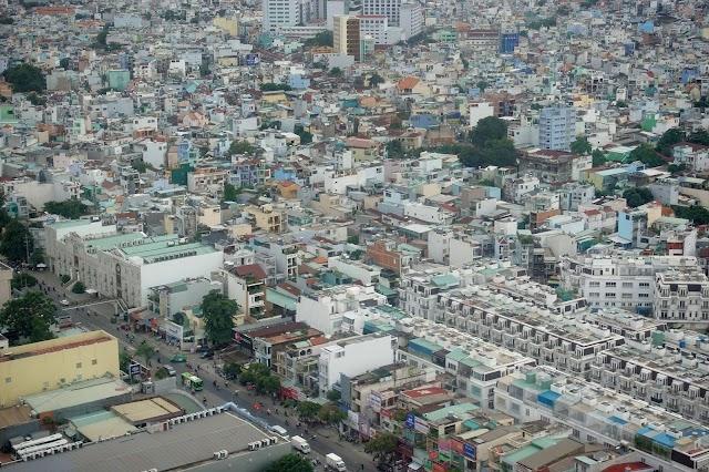 Cận cảnh rừng nhà bê tông tp Hồ Chí Minh nhìn từ máy bay