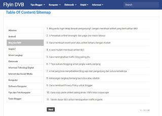 Cara membuat sitemap atau daftar isi blog