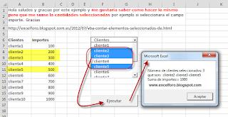 VBA: Suma Selectiva con un ListBox