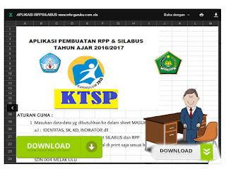 Aplikasi Otomatis dengan Excel Untuk membuat RPP dan Silabus Terbaru
