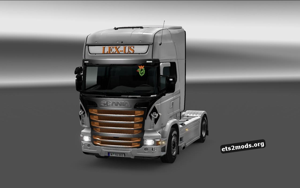 LEX-US Logistik Skin for Scania RJL