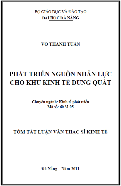 Phát triển nguồn nhân lực cho khu kinh tế Dung Quất