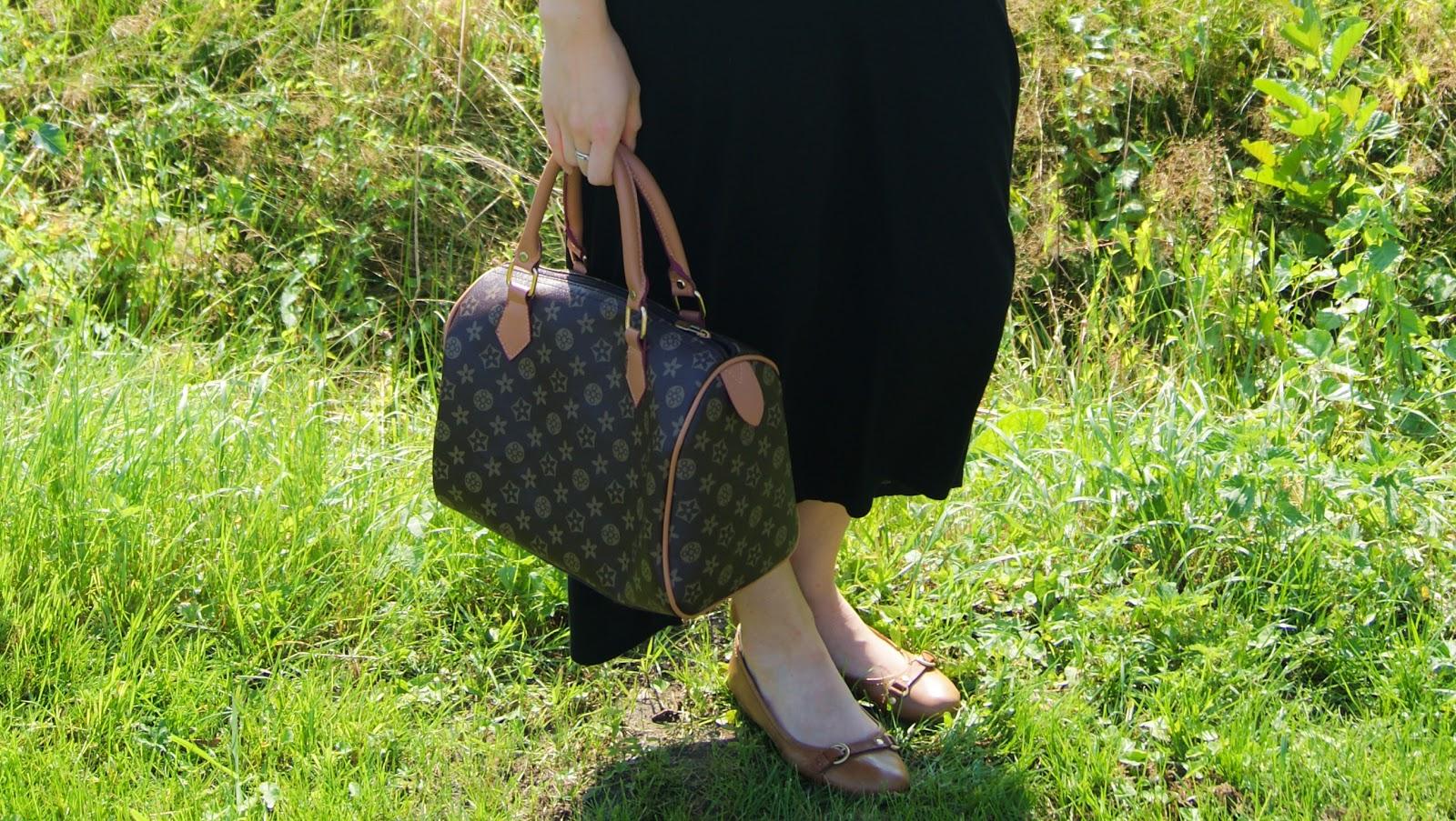 Outfit | Zwarte maxi dress en bruine details