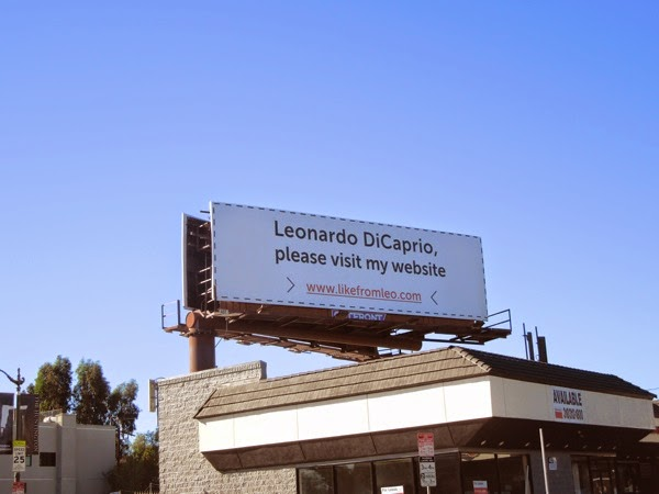 Leonardo DiCaprio, please visit my website billboard