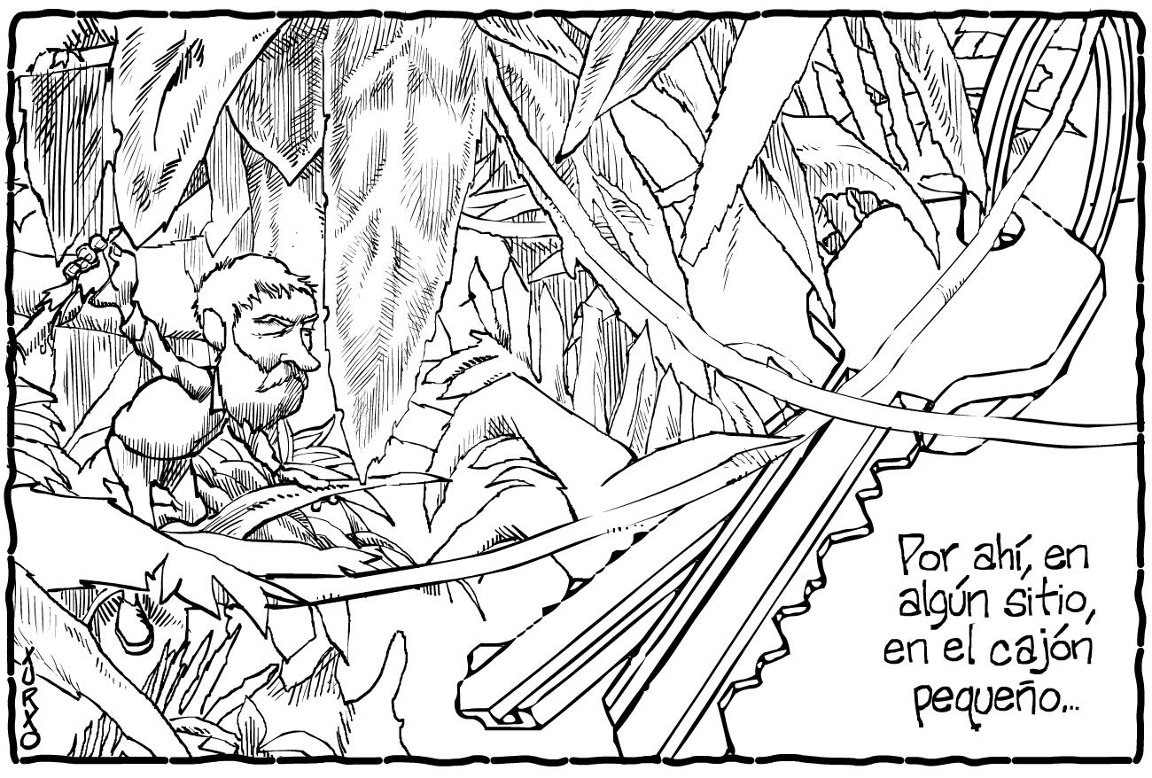Un explorador de los cajones desordenados en búsqueda de las llaves
