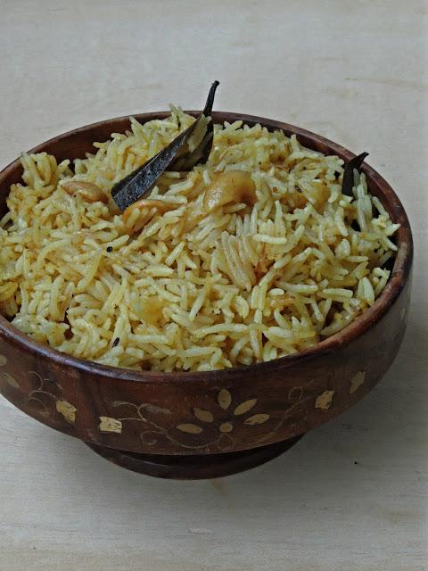 Cashew Coconut Milk Pulao