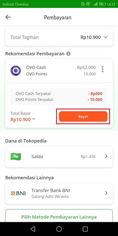 tokopedia mendukung pembayaran lewat ovo, saldo tokopedia, dan transfer bank