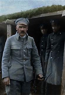 Józef Piłsudski pod Rudką Miryńską na Wołyniu - 1916