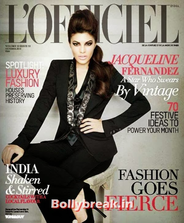 Jacqueline Fernandez on LOfficiel Cover, Jacqueline Fernandez Hot Pics from L'Officiel Cover Shoot 2013
