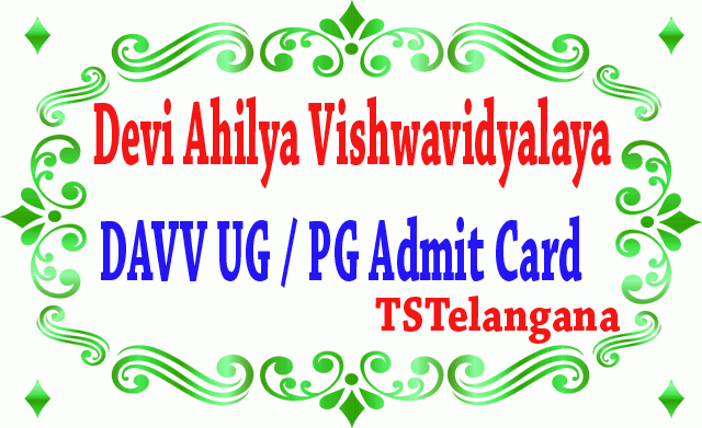 Devi Ahilya Vishwavidyalaya (DAVV) UG / PG Admit Card 2019