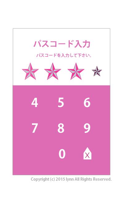 passcode*input screen(Pink ver