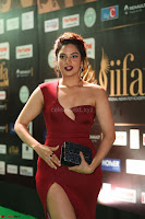 Natasha Nebasha in a Leg Slit Sleeveless Stunning Red Gown at IIFA Utsavam Awards 2017 066.JPG