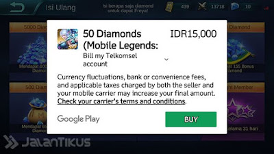 Tips Membeli Diamond di Mobile Legend Pakai Pulsa