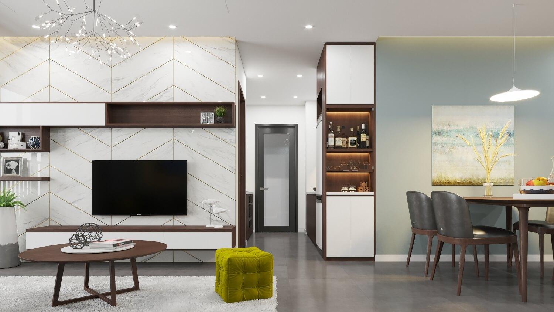 Phòng ăn căn hộ dự án 79 Ngọc Hồi