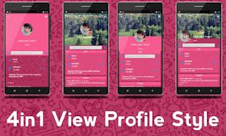 BBM MOD iMessenger Cute Tema Pink v3.0.1.25 APK Terbaru