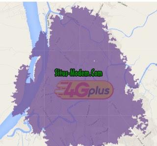Jangkauan Jaringan 4G Indosat Ooredoo  Kalimantan selatan