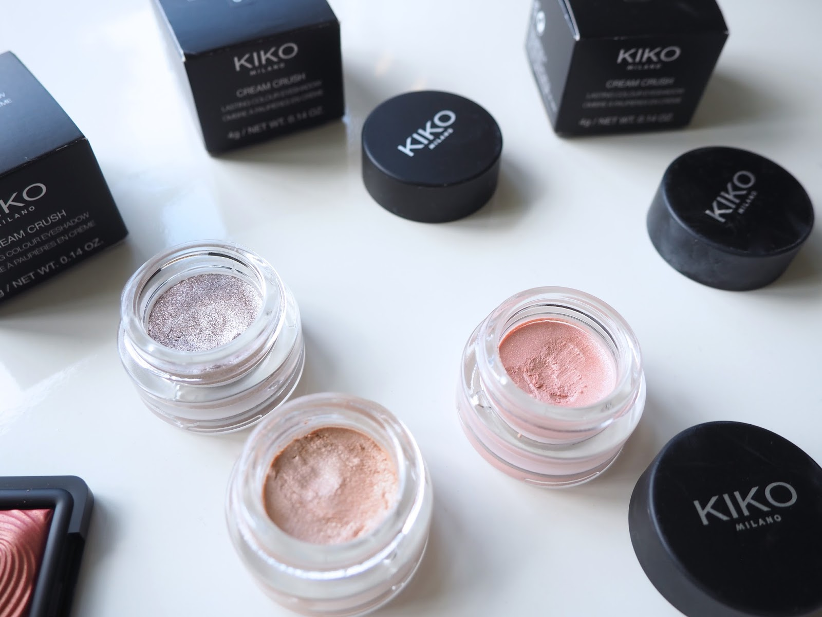 It's Cultured Kiko Haul Kiko Cream Crush Eyeshadow 01, 05, 10