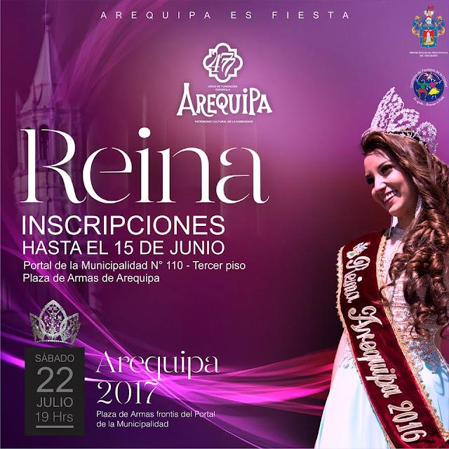 Reina Arequipa 2017 - Inscripciones