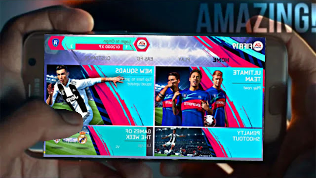 FIFA 19 MOD FIFA 14 V1 Android Offline Transfer Update New Menu & Kits Camera PS4