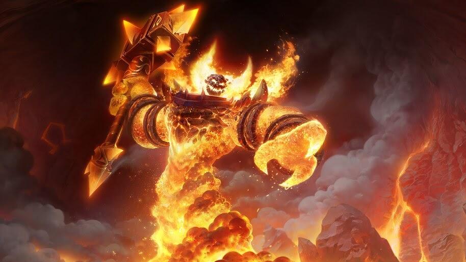 Wow Classic Fire Elemental 4k Wallpaper 3 889