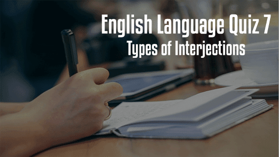 types of interjections Quiz