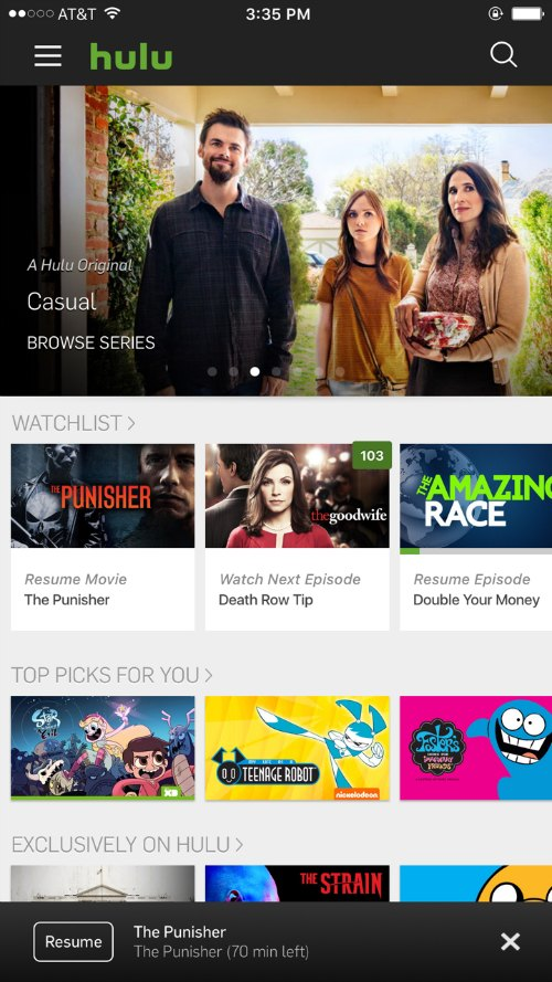 hulu, watch tv without cable