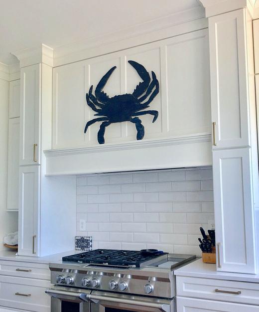 Wood Crab Wall Art Kitchen