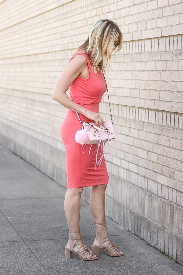 coral cotton dress spring style