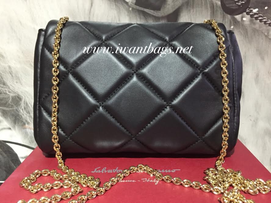 0ddddb957e Salvatore Ferragamo Vara Quilted Nappa Mini Bag-Black