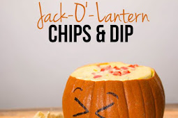 Jack O' Lantern Chips And Dip
